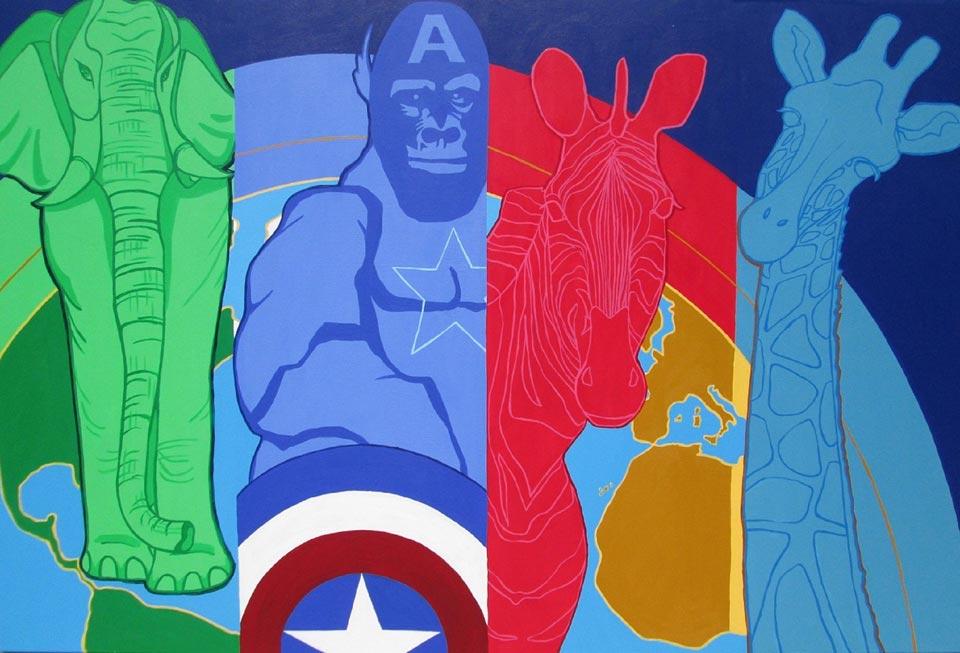 Heroji,akrilnaplatnu,100x150cm,2014godina